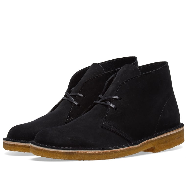 clarks originals desert boots black suede