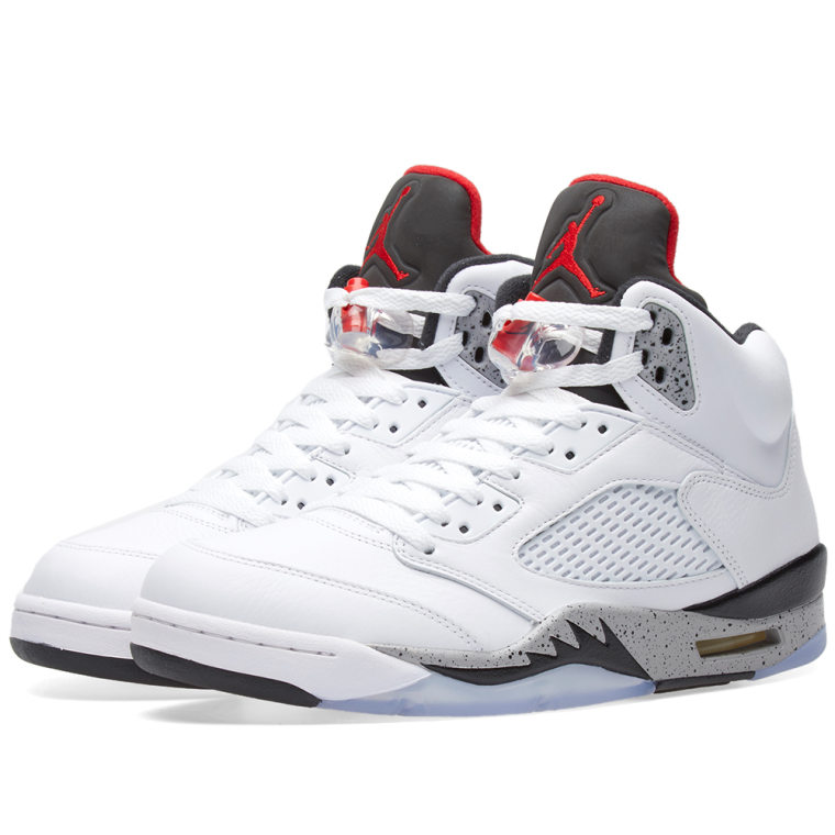 Nike Air Jordan 5 Retro White University Red Black 1