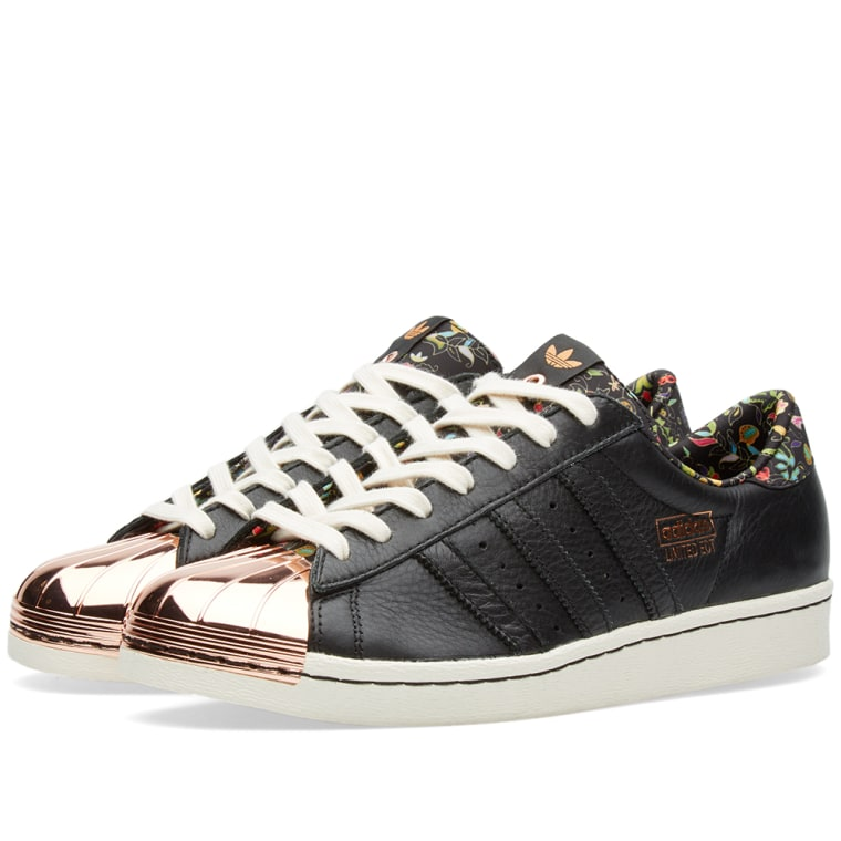 Womens White & Silver Cheap Adidas Superstar Trainers schuh