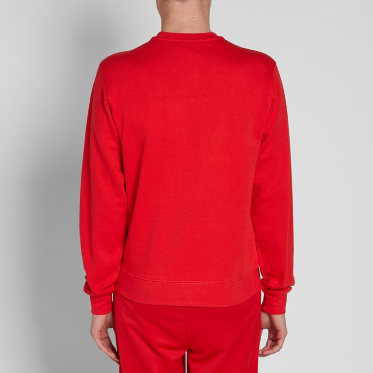 gosha rubchinskiy x sergio tacchini logo crew sweat red end. Black Bedroom Furniture Sets. Home Design Ideas