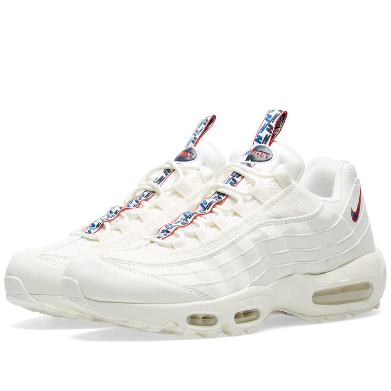 NIKE AIR MAX 95 Free Shipping TT SAIL/GYM Best BLUE-GYM RED Where to buy AJ1844-101