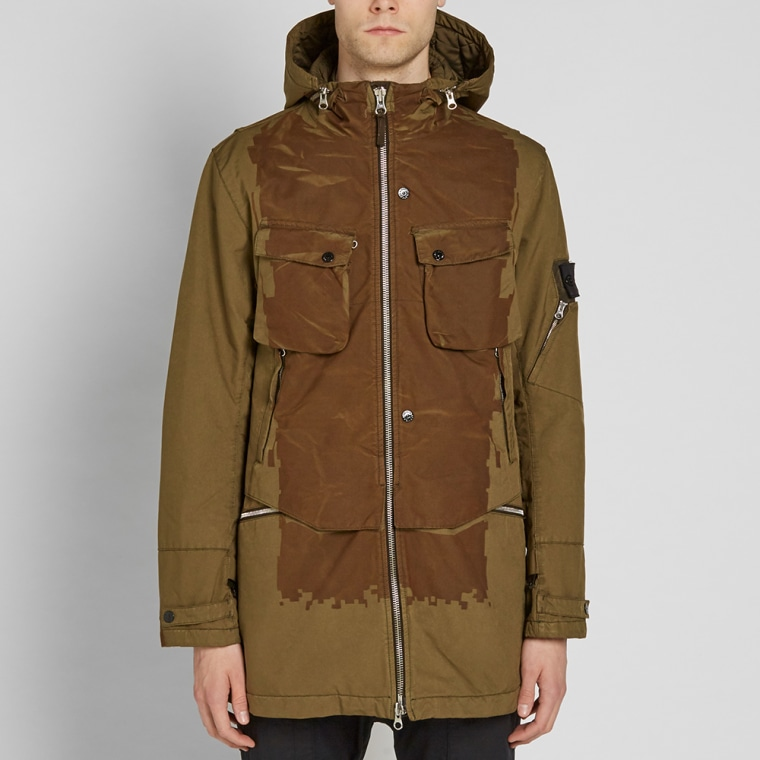 stone island shadow project david tc hooded field jacket. Black Bedroom Furniture Sets. Home Design Ideas