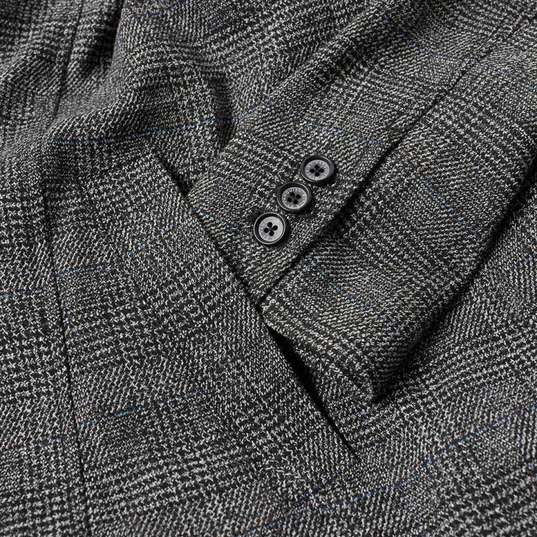 glencheck black by vanquish glen check soutien collar coat grey 5 brown suit
