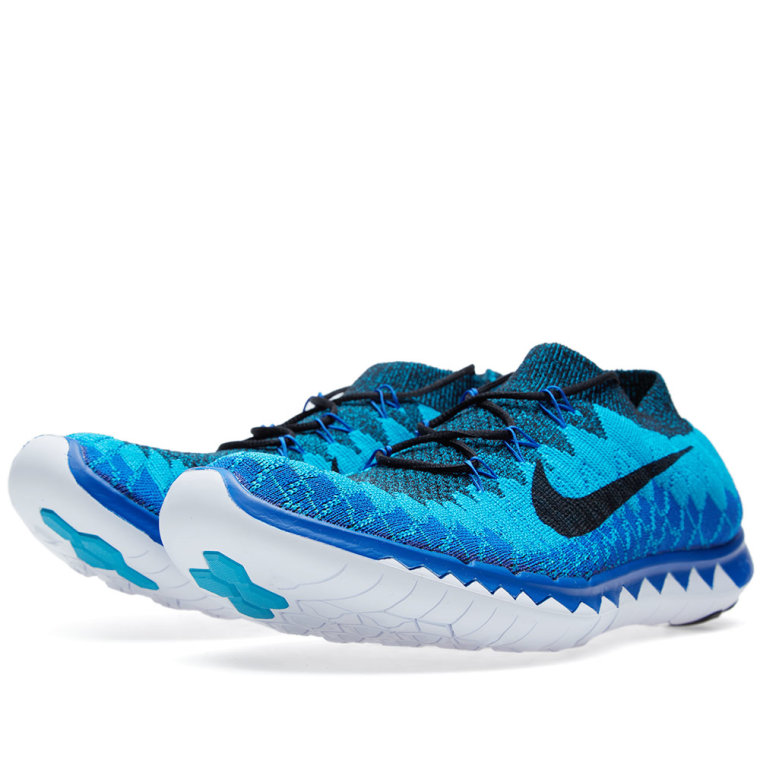 nike free 30 flyknit black amp blue lagoon end