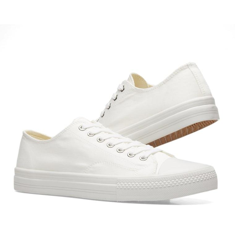Junya Watanabe Off-White Twill Sneakers