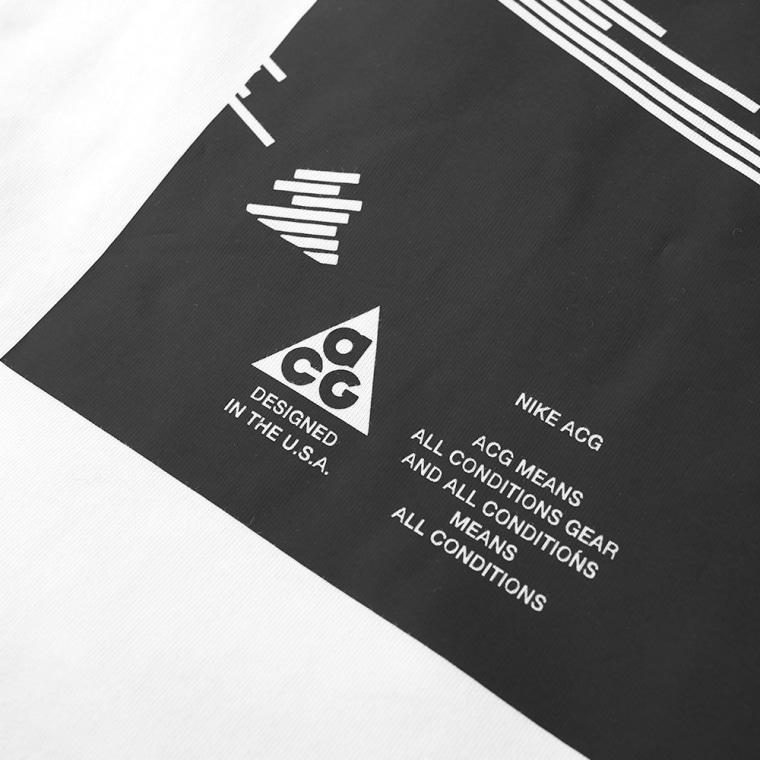 NikeLab ACG Tee (White & Black) | END.