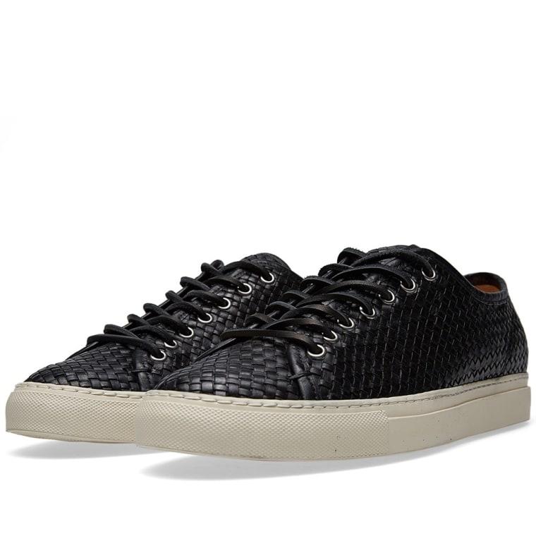 Buttero Tanino Low Woven Sneaker Black shoes online hot sale