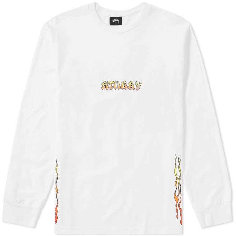 Stussy long sleeve high power sound tee white end for High end white t shirts