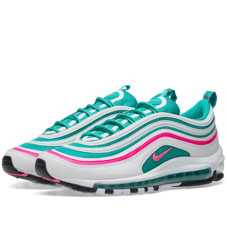 nike air max 97 39 miami 39 white pink blast green end. Black Bedroom Furniture Sets. Home Design Ideas