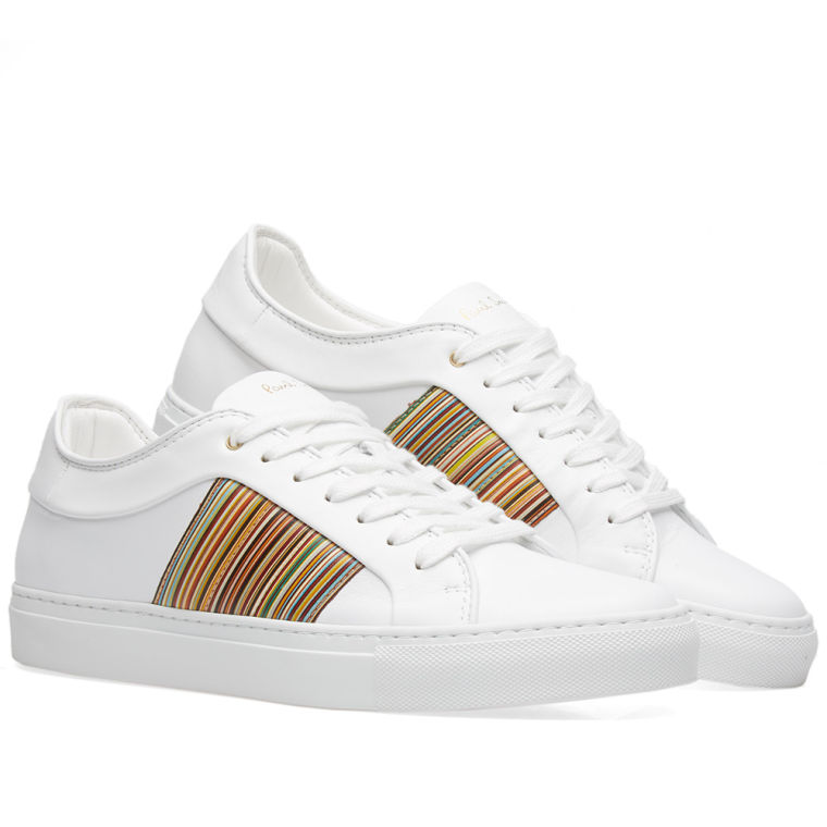 Paul Smith White Multistripe Ivo Sneakers