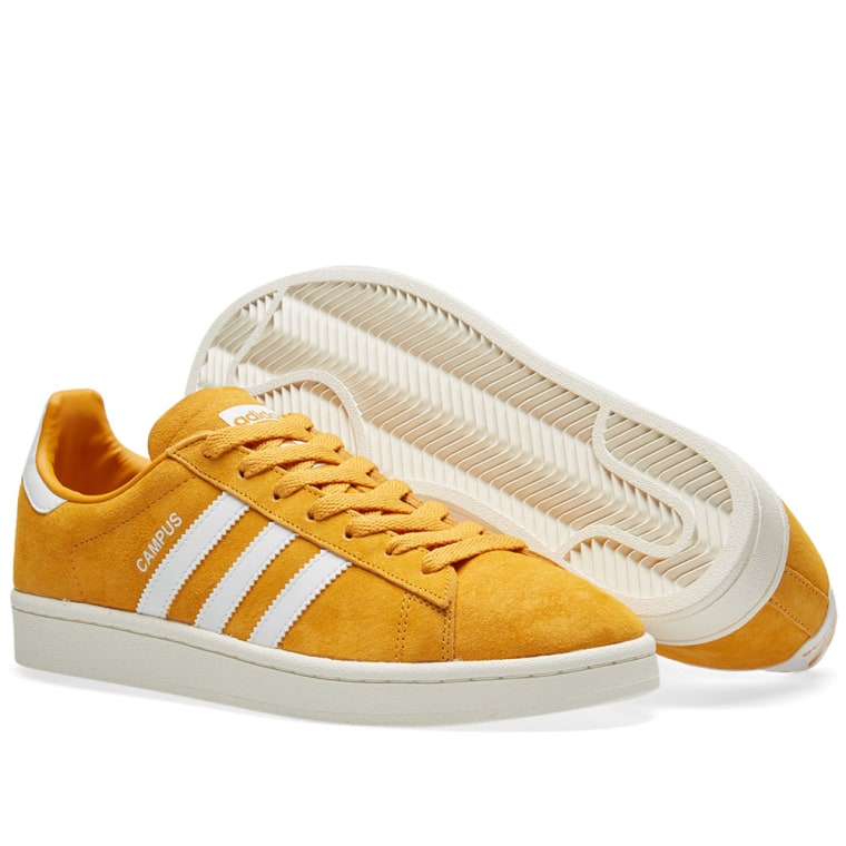Adidas Campus Trainers Tactile Yellow White Unisex Sports