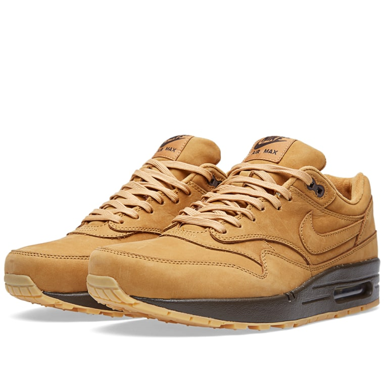 nike air max 1 qs shoes - flax/baroque brown