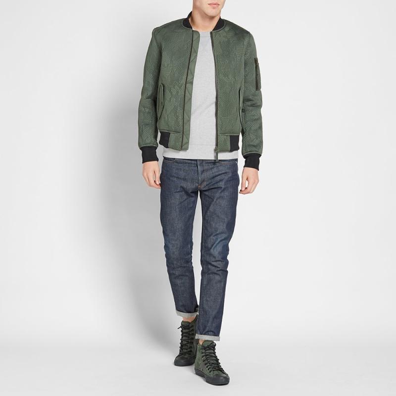 converse green jacket