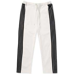 DIMA LEU Cropped Wide Fit Stripe Track Pant