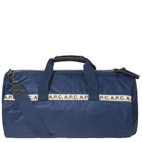 A.P.C. Maybellene Tape Logo Gym Bag
