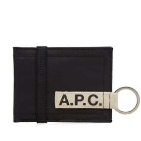 A.P.C. Lucky Nylon Tape Logo Wallet by End.