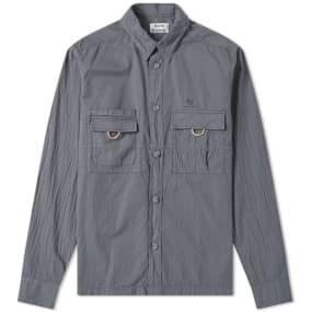 Acne Studios Sandy Garment Dyed Nylon Overshirt