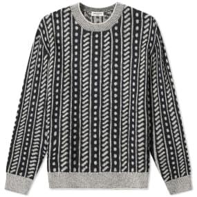 Saint Laurent Pattern Crew Knit