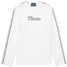 Fred Perry X Thames Long Sleeve Taped Ringer Tee by End.