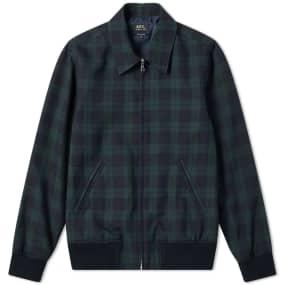 A.P.C. Check Harrington Jacket
