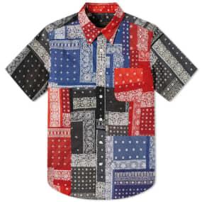 SOPHNET. Patchwork Short Sleeve Shirt