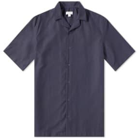 Sunspel Cotton Camp Collar Short Sleeve Shirt