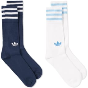 Adidas Solid Crew Sock - 2 Pack