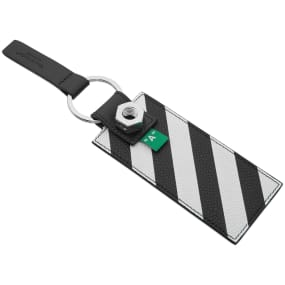Off-White Leather Diagionals Keys Holder