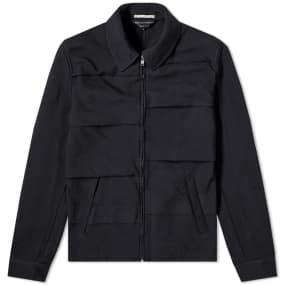Comme des Garcons Homme Plus Garment Treated Layered Zip Jacket