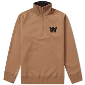 Wood Wood Curtis Half Zip Sweat by Wood Wood