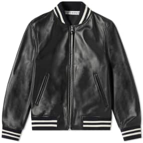 JW Anderson High Shine Leather Ribbed Jacket