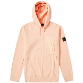 Stone Island Shadow Project Diagonal Weave Popover Hoody by End.