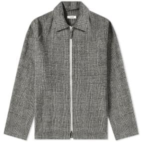 Très Bien Wool Check Zip Blouson