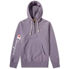 Champion Reverse Weave Logo Half Zip Hoody by End.
