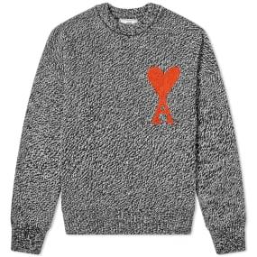 AMI Oversized Heart Logo Crew Knit