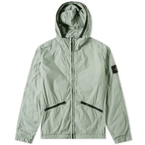 Stone Island Crinkle Reps Hooded Jacket by End.