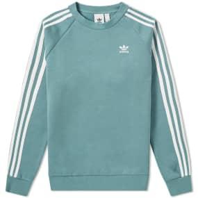 Adidas 3 Stripe Crew Sweat by End.