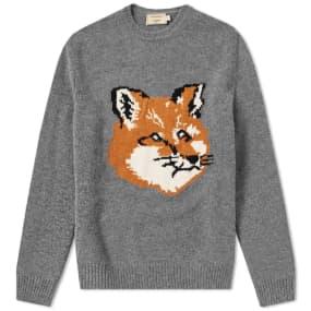 Maison Kitsuné Fox Head Crew Knit by End.