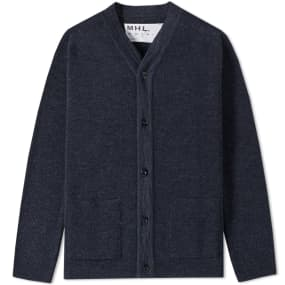 MHL. by Margaret Howell Pocket Cardigan (Navy) | END.