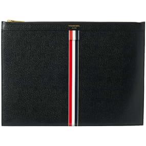 Thom Browne Medium Zip Stripe Document Holder