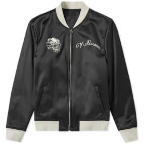 Alexander McQueen Skull Silk Blouson Jacket