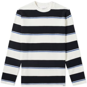 Norse Projects Long Sleeve Johannes Textured Stripe Tee