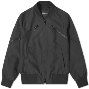 Neil Barrett Tonal Multi Zip Nylon Bomber Jacket