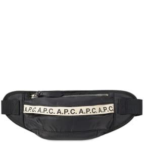 A.P.C. Lucille Tape Logo Waist Bag