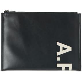 A.P.C. Transversal Vinyl Logo Pouch