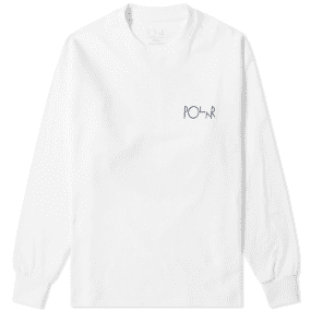 Polar Skate Co. Long Sleeve 69 Fill Logo Tee
