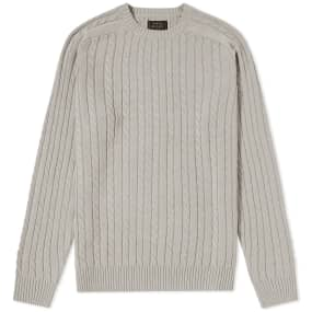 Beams Plus Cable Crew Knit