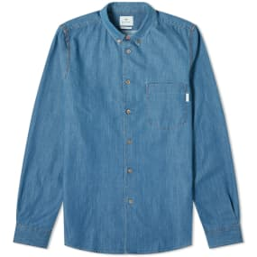 Paul Smith Multi Coloured Stitch Button Down Denim Shirt