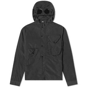 C.P. Company Goggle Chrome Nylon Hooded Zip Shirt