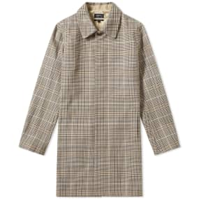 A.P.C. Stefano Check Long Coat